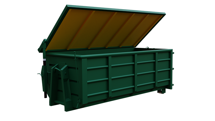 Abroll container with cover 1