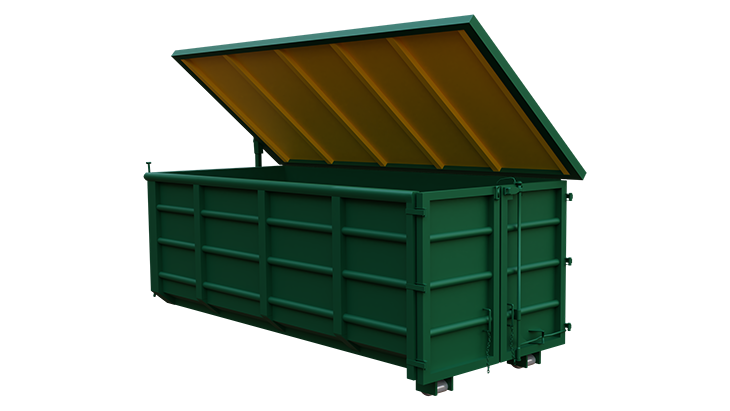 Abroll container with cover 2