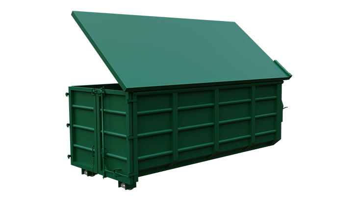 Abroll container with cover 3