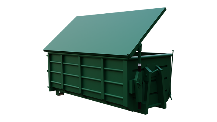 Abroll container with cover 4