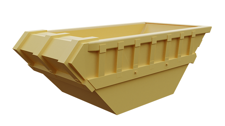 Metal skip container for mud 1