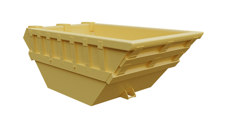 Metal skip container for mud 2