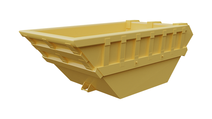 Metal skip container for mud 3