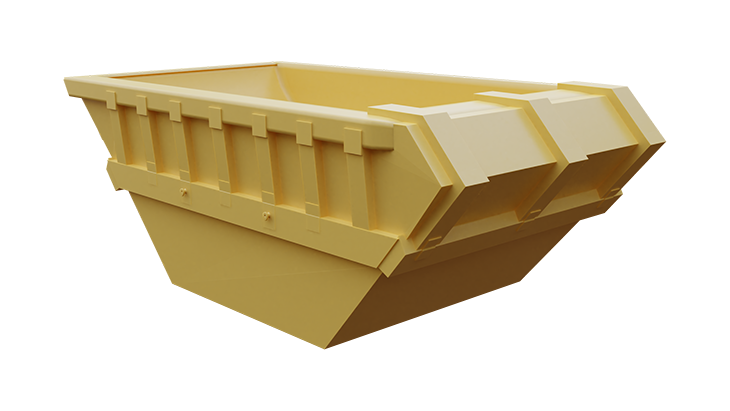 Metal skip container for mud 4