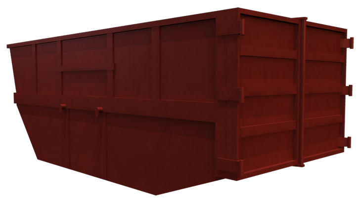 Metal skip container large volume