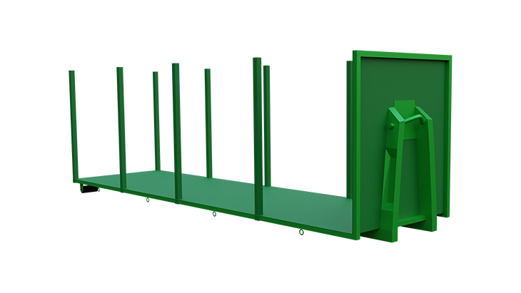 Platform for abroll container 2
