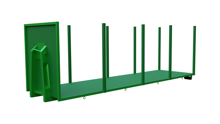 Platform for abroll container 3