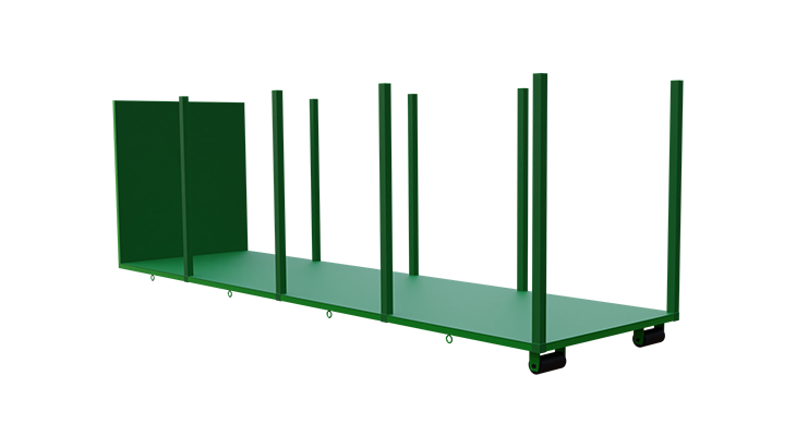 Platform for abroll container 4